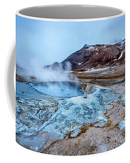 Hverir Steam Vents In Iceland Coffee Mug by Joe Belanger