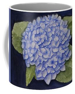 Hydrangea Flower With Blue Background Coffee Mug