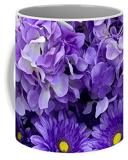 Hydrangeas And Daisies So Purple Coffee Mug