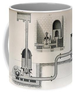 Hydraulic Ram, 19th Century. From Coffee Mug