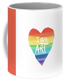 I Am Art Rainbow Heart- Art By Linda Woods Coffee Mug