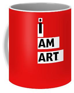 I Am Art Stripes- Design By Linda Woods Coffee Mug