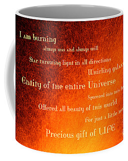 I Am Burning Coffee Mug by Agnieszka Ledwon