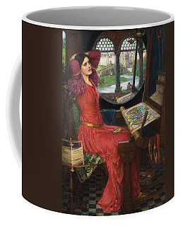 Coffee Mug featuring the painting I Am Half Sick Of Shadows Said The Lady Of Shalott by John William Waterhouse