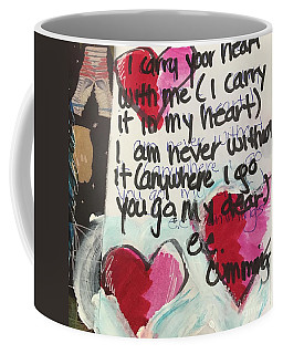 I Carry Your Heart In My Heart II Coffee Mug by Kim Nelson