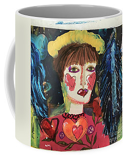 Coffee Mug featuring the painting I Carry Your Heart In My Heart by Kim Nelson