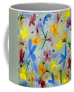 I Flit Through Life Three Coffee Mug