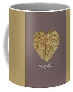 I Heart Hong Kong Street Map Love Series No 101 Coffee Mug