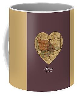 I Heart Tucson Arizona Street Map Love Americana Series No 061 Coffee Mug