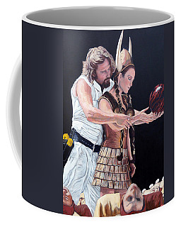 Coffee Mug featuring the painting I Just Dropped In by Tom Roderick