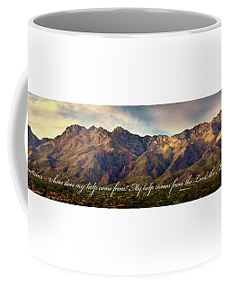 I Lift My Eyes To The Mountains Coffee Mug