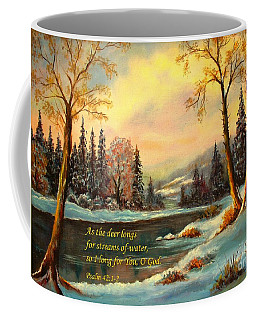 I Long For You, O God Coffee Mug by Hazel Holland