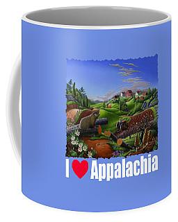 I Love Appalachia T Shirt - Spring Groundhog - Country Farm Landscape Coffee Mug