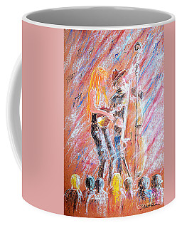 Coffee Mug featuring the painting I Love Bluegrass by Bill Holkham