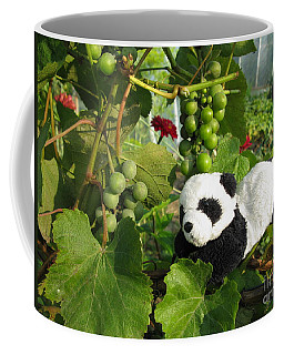 Coffee Mug featuring the photograph I Love Grapes Says The Panda by Ausra Huntington nee Paulauskaite