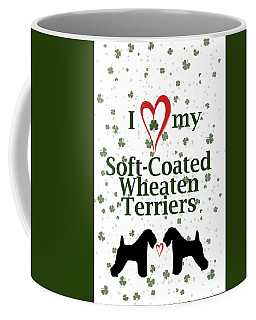 I Love My Soft Coated Wheaten Terriers Coffee Mug by Rebecca Cozart