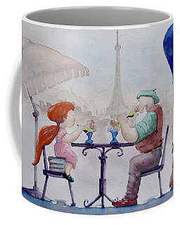I Love Paris Grandpa Coffee Mug by Geni Gorani