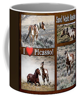 I Love Picasso Collage Coffee Mug by Nadja Rider