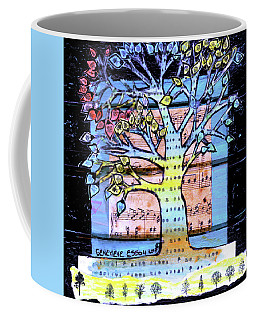 Coffee Mug featuring the painting I Love Trees by Genevieve Esson