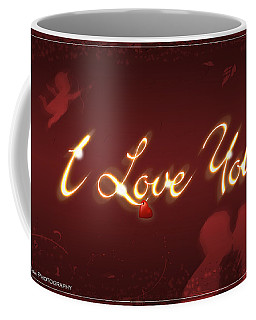 I Love You Greeting Card Coffee Mug