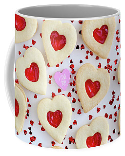 I Love You Heart Cookies Coffee Mug