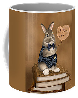 Coffee Mug featuring the painting I Love You by Veronica Minozzi