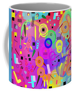 Coffee Mug featuring the digital art I Once Was Happy by Silvia Ganora