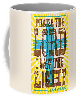I Saw The Light Lyric Poster Coffee Mug