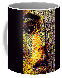 Coffee Mug featuring the digital art I See Everything  by Rafael Salazar