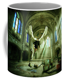 Coffee Mug featuring the digital art I Want To Brake Free by Nathan Wright