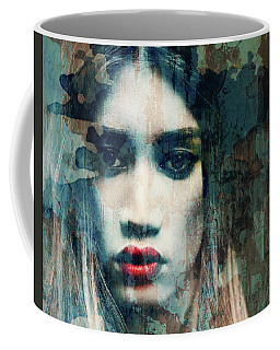 Coffee Mug featuring the mixed media I Want To Know What Love Is  by Paul Lovering