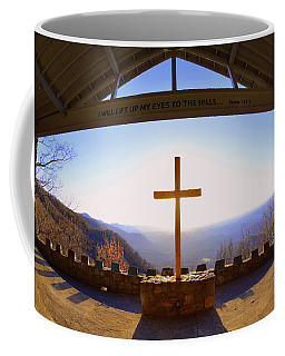 Coffee Mug featuring the photograph I Will Lift My Eyes To The Hills Psalm 121 1 by Lisa Wooten