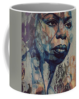 Coffee Mug featuring the mixed media I Wish I Knew How It Would Be  Feel To Be Free by Paul Lovering