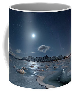 Ice And Northern Lights II Coffee Mug