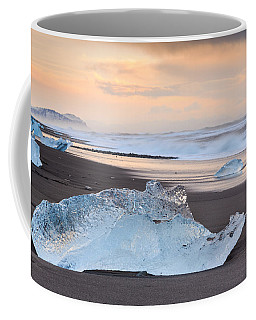 Coffee Mug featuring the photograph Ice Beach by Susan Leonard