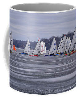 Ice Boat Racing - Madison - Wisconsin Coffee Mug