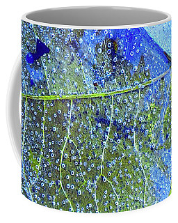 Ice Bubbles And Leaf Lines Coffee Mug