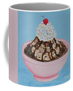 Coffee Mug featuring the painting Ice Cream Sundae With Sprinkles by Nancy Nale