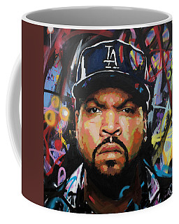 Coffee Mug featuring the painting Ice Cube by Richard Day