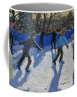 Ice Skaters At Christmas Fayre In Hyde Park  London Coffee Mug