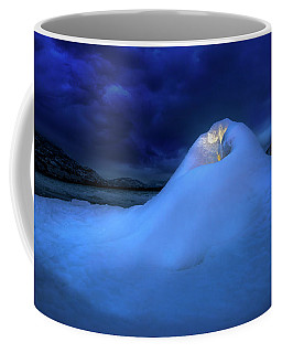 Coffee Mug featuring the photograph Ice Volcano by John Poon