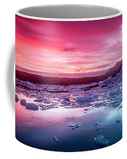 Icebergs In Jokulsarlon Glacial Lagoon Coffee Mug by Joe Belanger