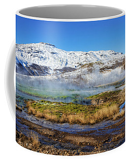 Coffee Mug featuring the photograph Iceland Landscape Geothermal Area Haukadalur by Matthias Hauser