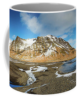 Coffee Mug featuring the photograph Iceland Landscape Panorama Sudurland by Matthias Hauser