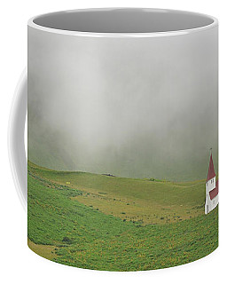 Coffee Mug featuring the photograph Icelandic Chapel by Joe Bonita