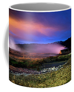 Coffee Mug featuring the photograph Icelandic Geyser At Night by Dubi Roman