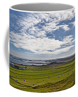 Coffee Mug featuring the photograph Icelandic Panorama by Joe Bonita