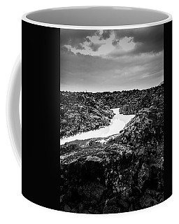 Icelandic Silica Stream In Black And White Coffee Mug