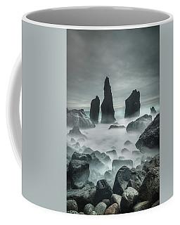 Icelandic Storm Beach And Sea Stacks. Coffee Mug