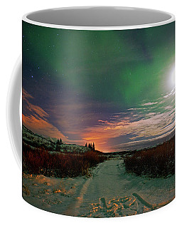 Coffee Mug featuring the photograph Iceland's Landscape At Night by Dubi Roman
